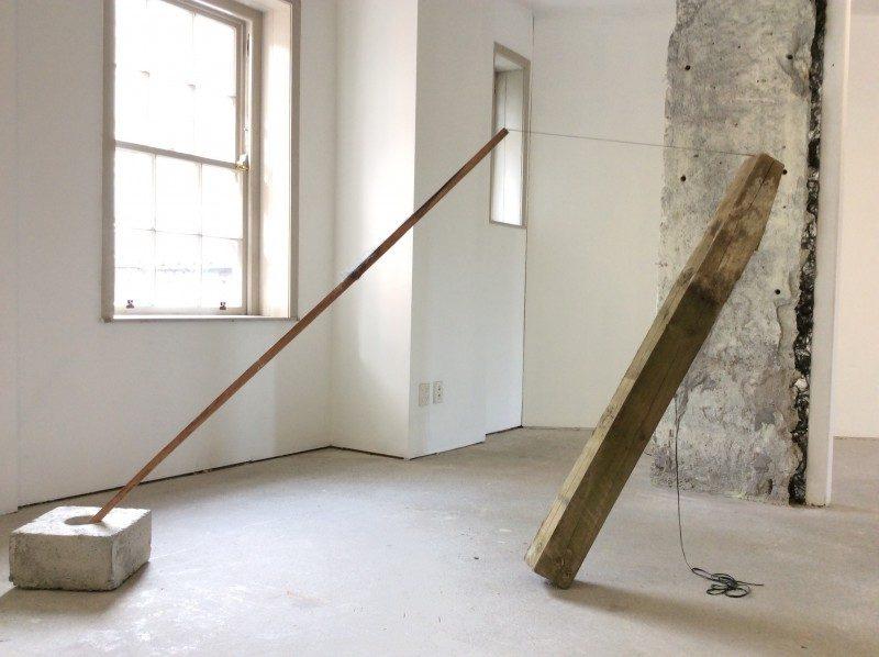 surrender. concrete, stake, post, sail, 2015