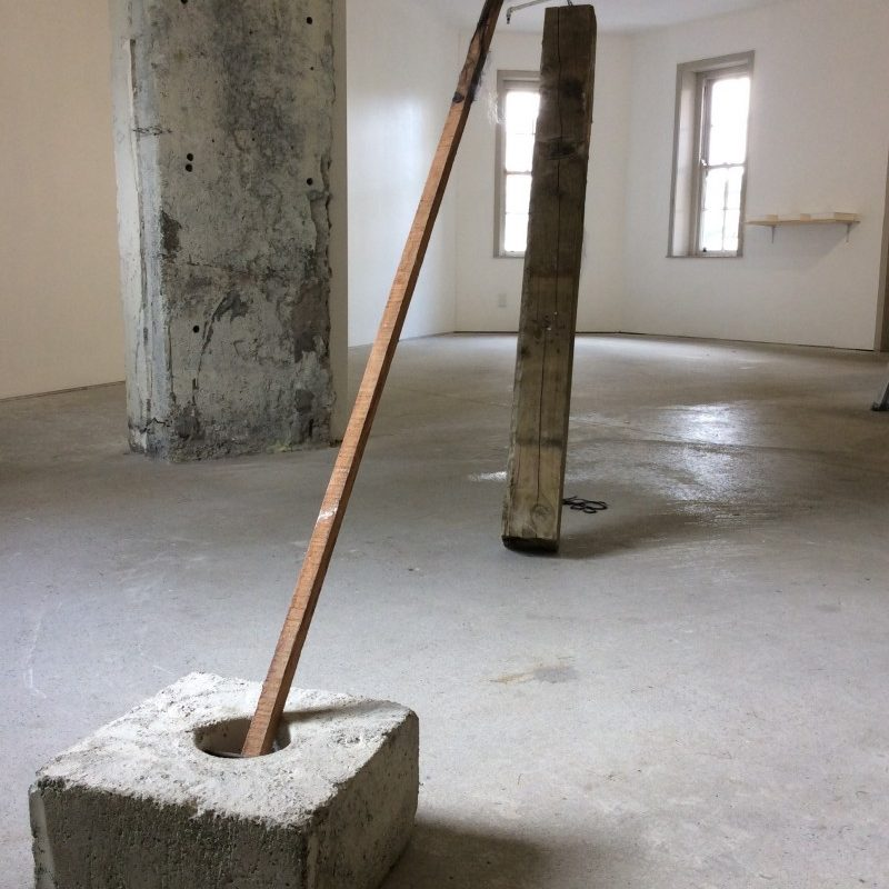 surrender. concrete, stake, post, sail, 2015